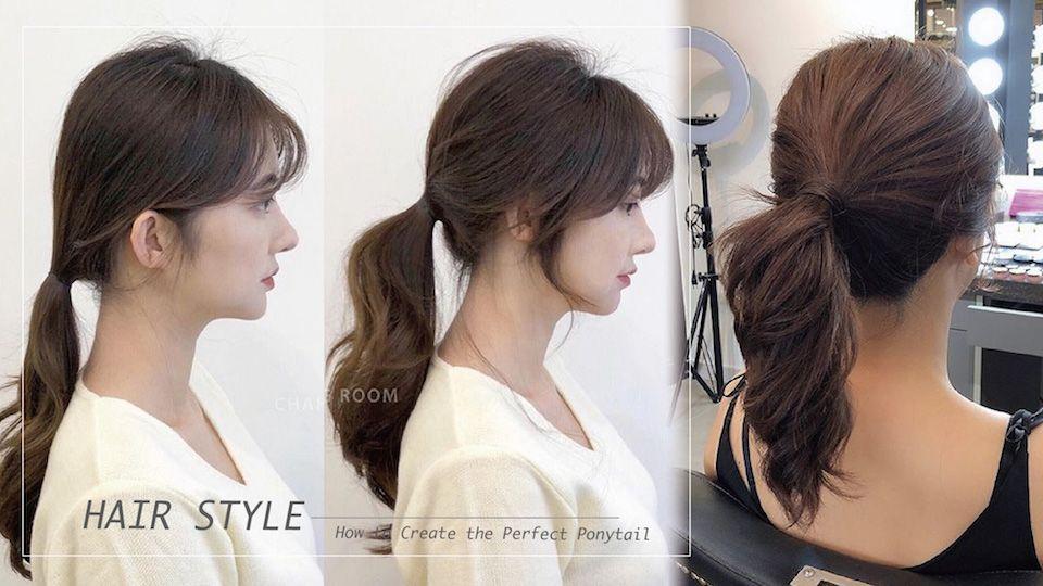 髮型師分享,低馬尾通常給人較成熟知性的感覺,也是上班族OL常見的髮型