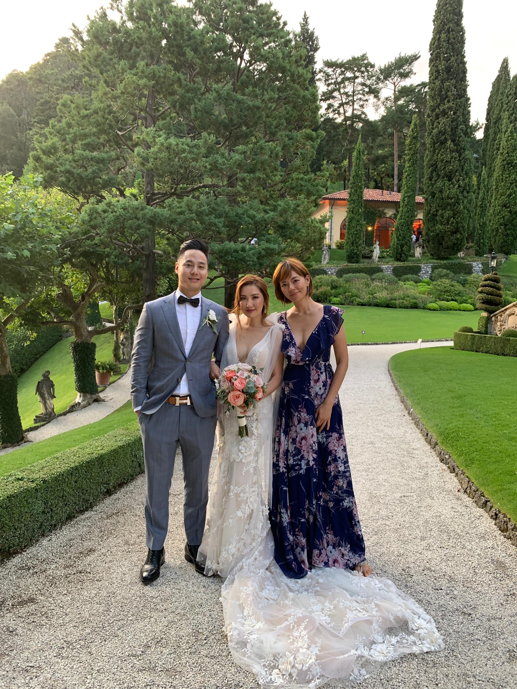 ▲劉香慈找妹妹一起去義大利參加朋友婚禮。