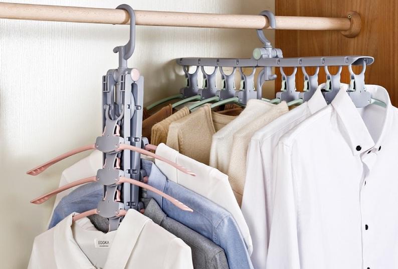 ▲各種衣架與掛件,可以讓吊桿發揮多元機能。(圖片來源:Yahoo購物中心)