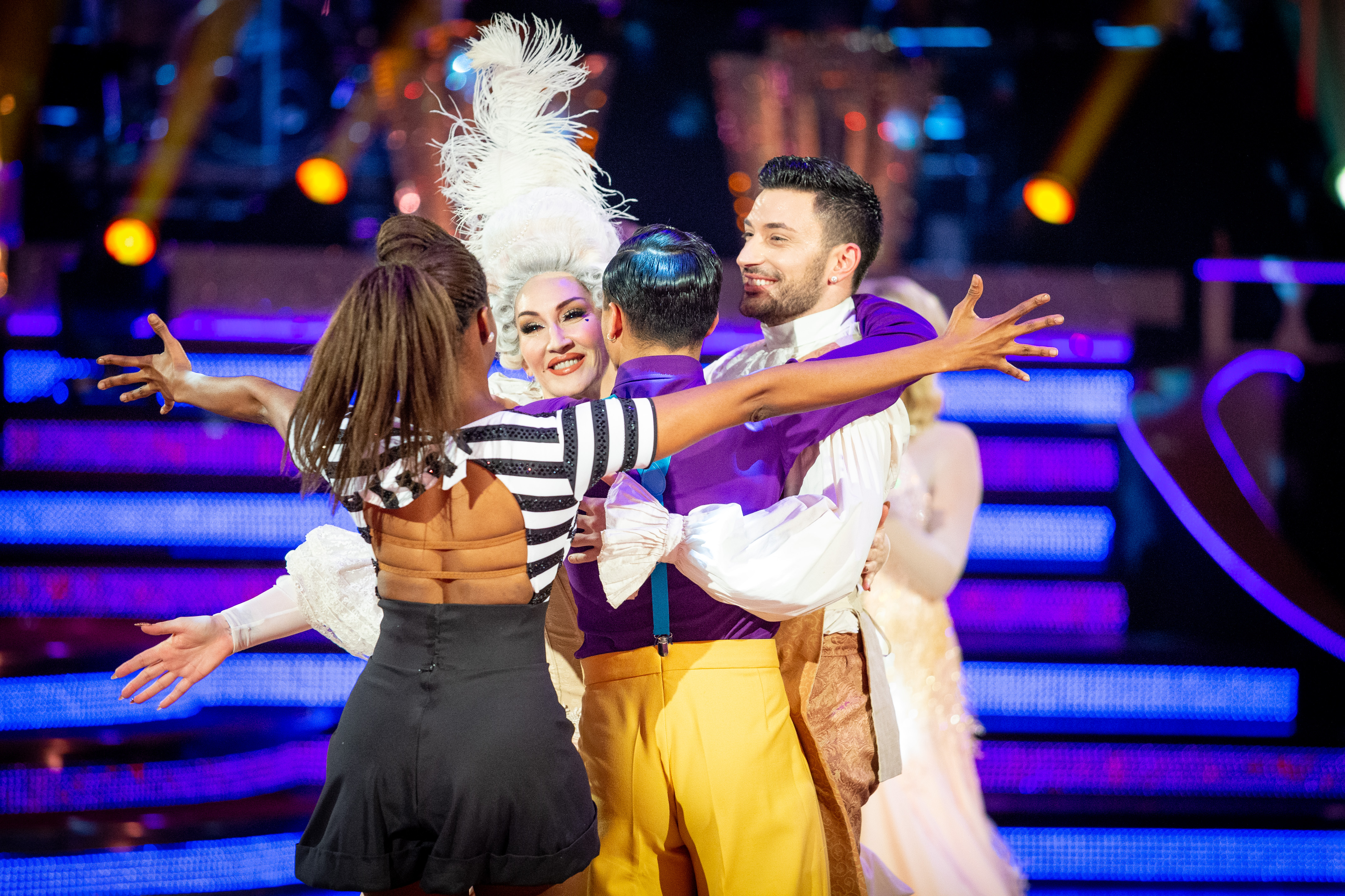 Michelle Visage was voted off the dance show this weekend (Credit: BBC)