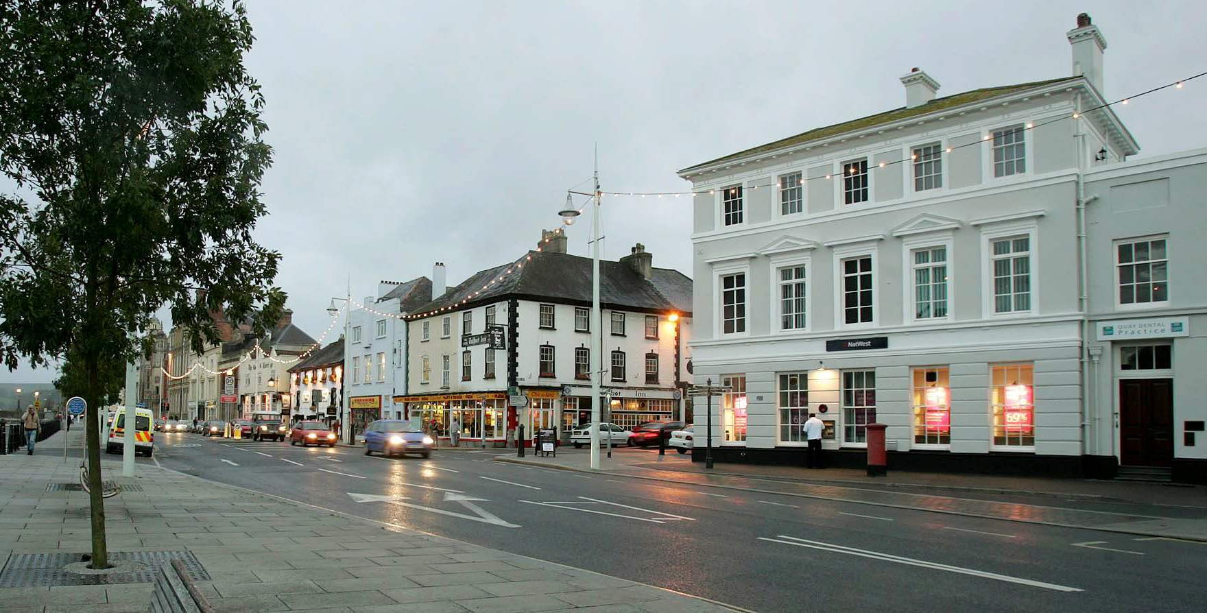 """FILE PICTURE - Bideford, Devon.  A Devon town famously referred to as the """"Little White Town"""" has agreed to change signposts to alter it's nickname after complaints were made to a councillor.  See SWNS story SWBRwhite.  Bideford in North Devon takes it's """"Little White Town"""" moniker from Charles Kingsley's  book Westward Ho! which was written in 1855 and set in and around the area.  However, it seems there are some people who want to consign what they see as a politically incorrect tag to history.  Bideford town councillor and former mayor Dermot McGeough tables a motion at last night's town council meeting which called to scrap the name from signs in the town."""