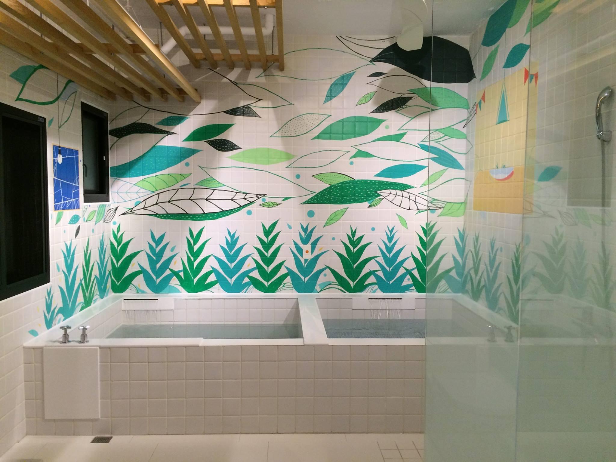 蔥澡賦予老店新生命,一間間澡堂畫上色彩繽紛、各有千秋卻不失童趣的插畫。圖/蔥澡臉書粉絲專頁