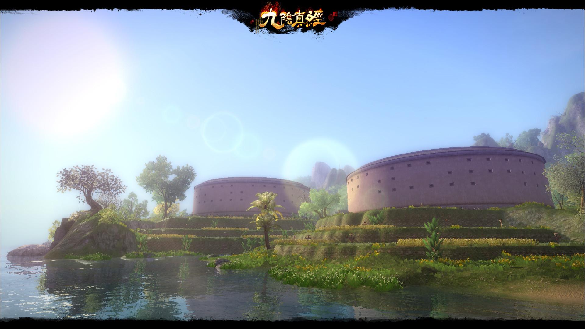 ▲雙龍堡四周風景秀麗,有如世外桃源