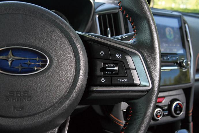 於方盤上ACC主動巡航系統的控制鈕。版權所有/汽車視界