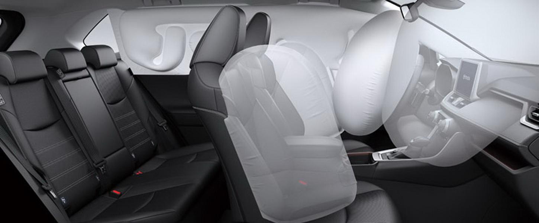 圖/Toyota RAV4標配7SRS安全氣囊,包括有雙前座SRS氣囊、雙前座椅側SRS氣囊、駕駛座膝部SRS氣囊、車側簾式氣囊,提供嚴密的安全防護機制。