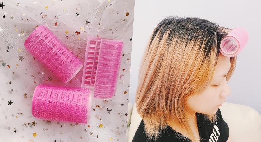 以往的髮捲大多只有一層,如果頭髮太長太多就不易固定,這款髮捲有雙層設計,裝上去後就不易脫落