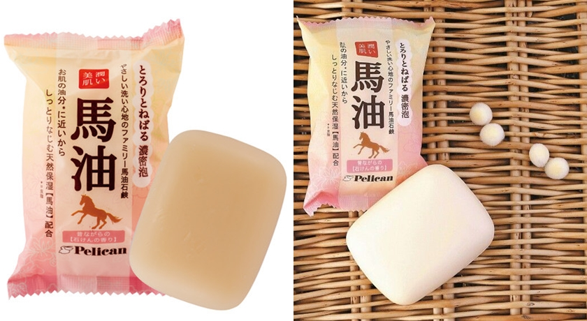 Pelican馬油潤澤美膚皂。