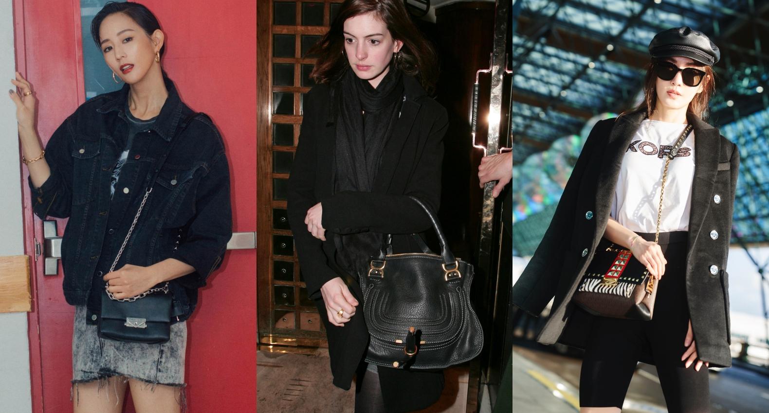 女星街拍包突擊!張鈞甯、謝金燕、Anne Hathaway...都在揹的時尚it包