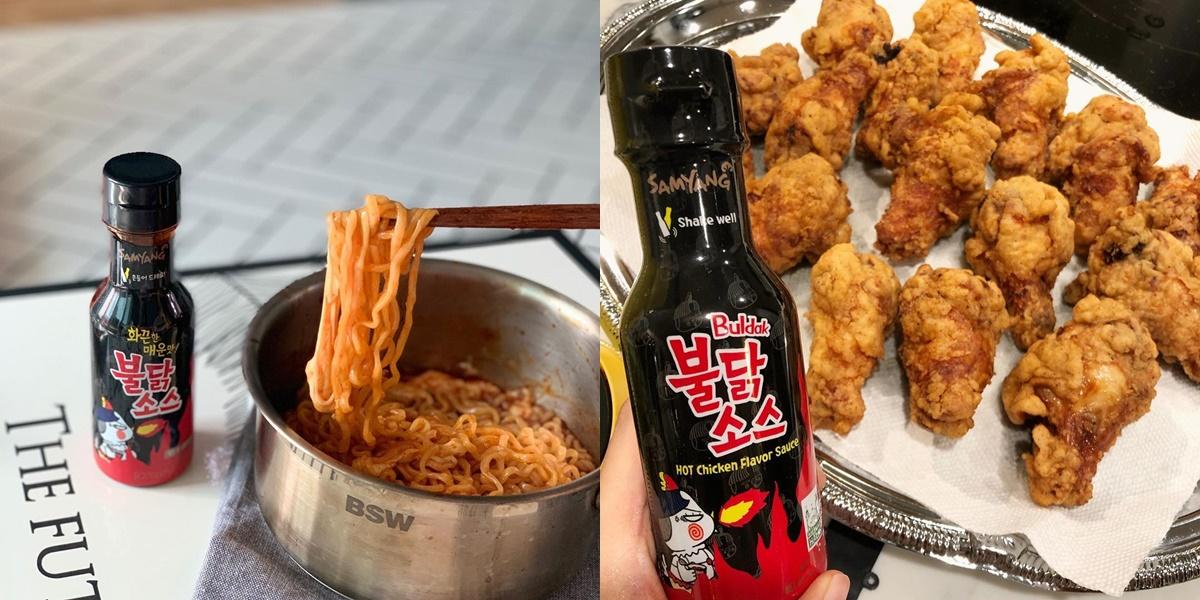 在韓國一推出就大熱賣的還有「三養火辣雞肉辣醬」