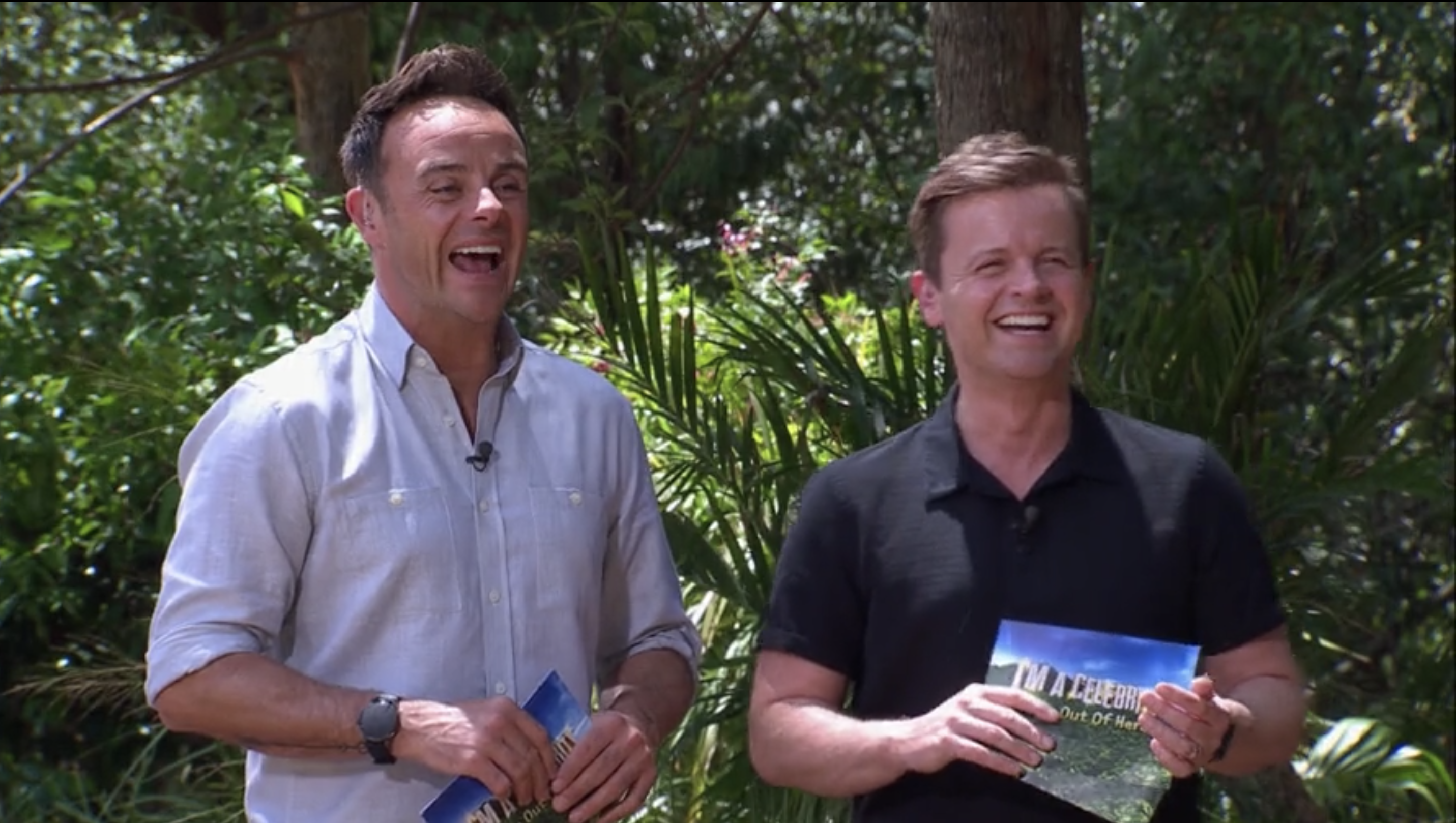 Ant and Dec during a bushtucker trial on I'm a Celebrity