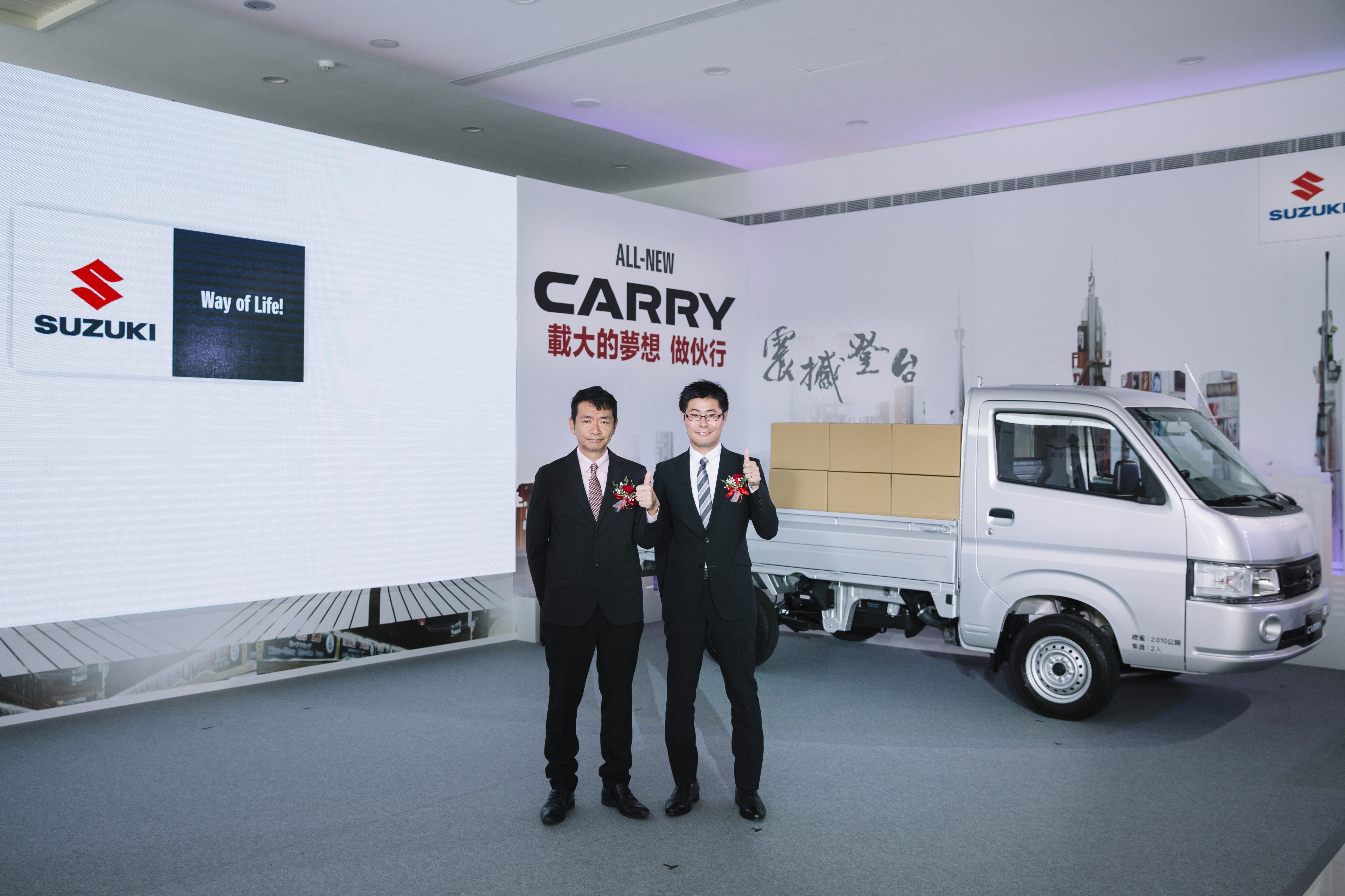 (圖左)TAIWAN SUZUKI鈴木忠臣董事長、(圖右)TAIWAN SUZUKI高橋淳副總經理。