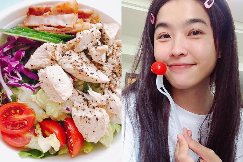 小嫻表示會在早餐時吃得特別豐盛,因為自己的腸胃比較敏感