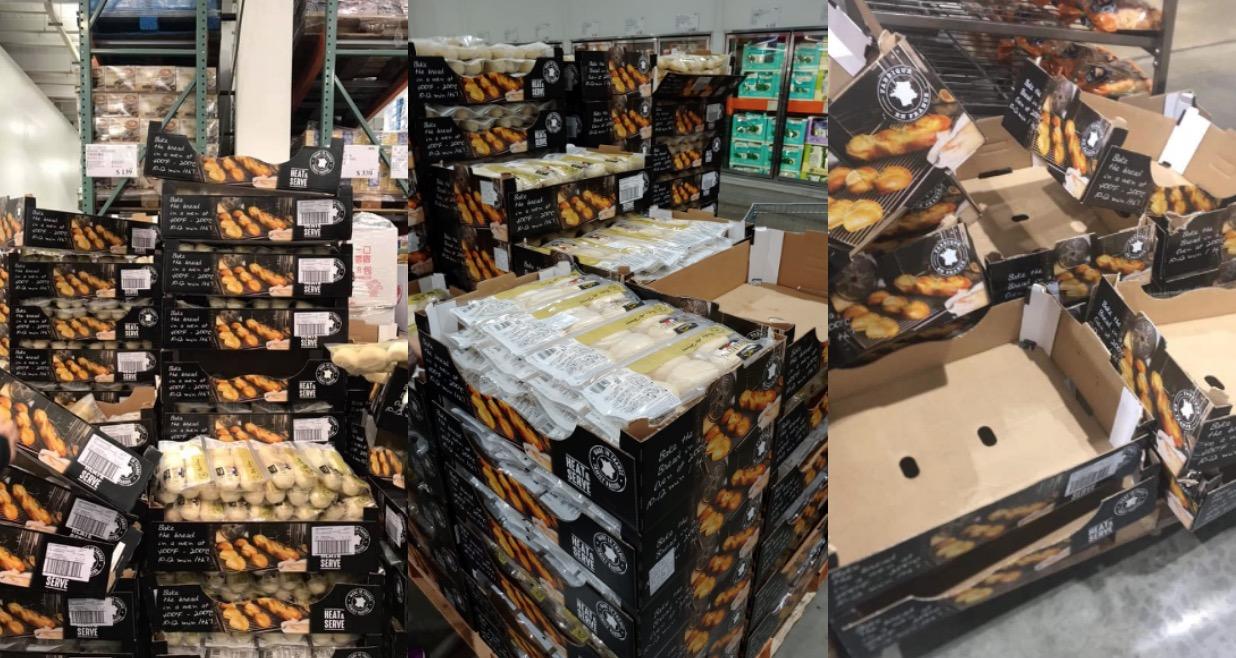這款半熟麵包產地在法國,一包24入售價為NT.139,一個平均NT.5.7。
