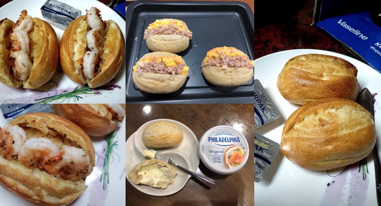網友分享許多半熟麵包的吃法,讓更多人又想買到這款目前最夯產品(圖片為網友私人提供)