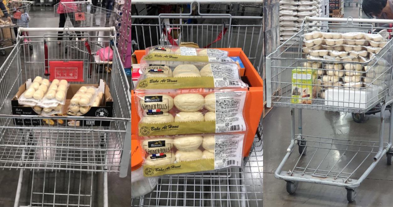 想要買到真的靠運氣,難怪大家看到半熟麵包都忍不住想搬空。