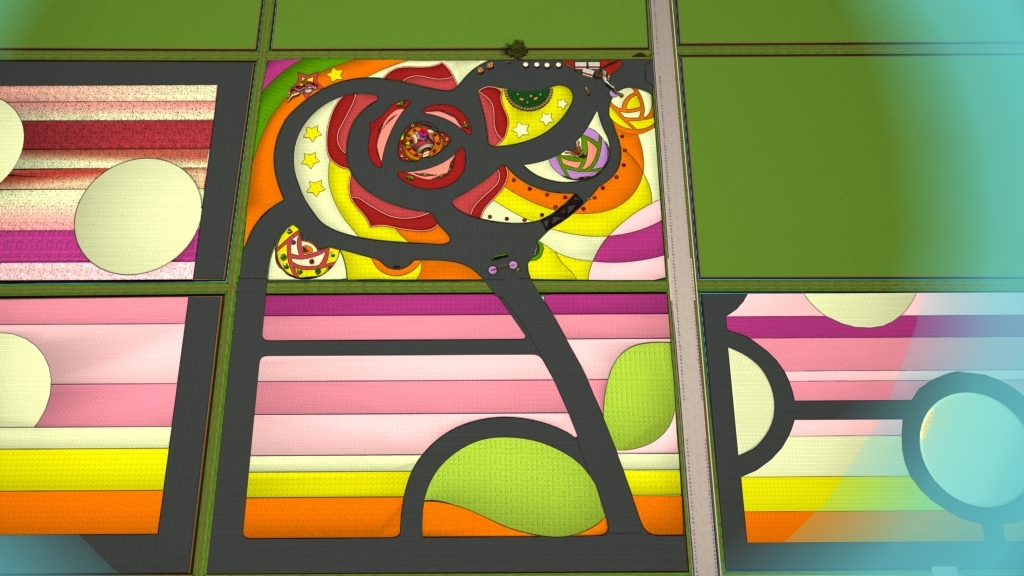 大視覺玫瑰 (圖片來源:台中市政府)