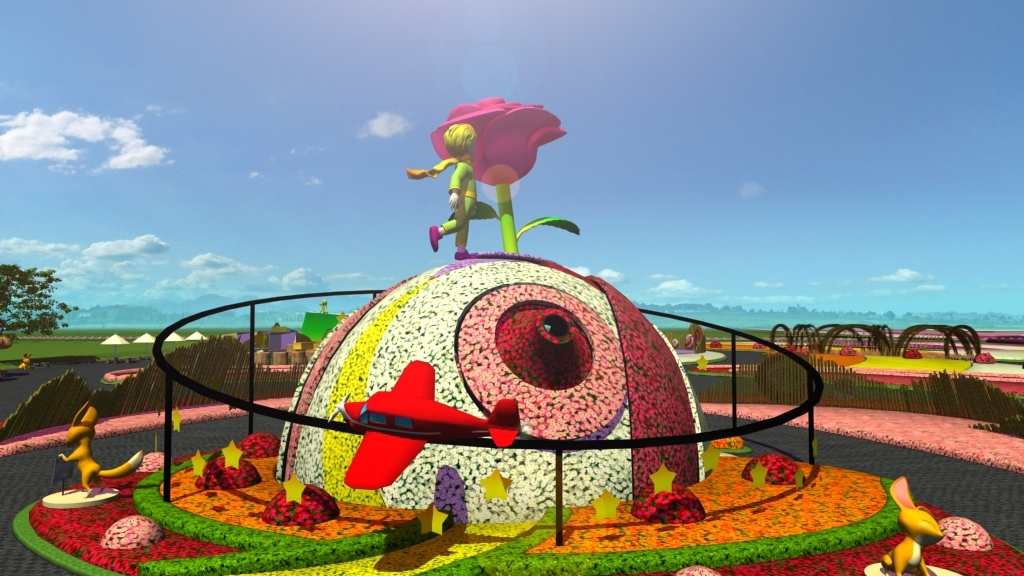 主花毯玫瑰星球(圖片來源:台中市政府)