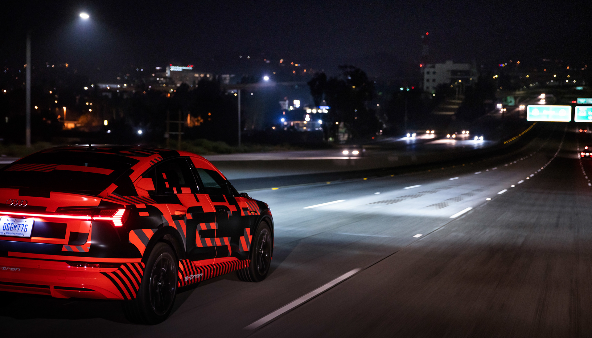 Audi's digital matrix LED headlights debut in the E-Tron Sportback