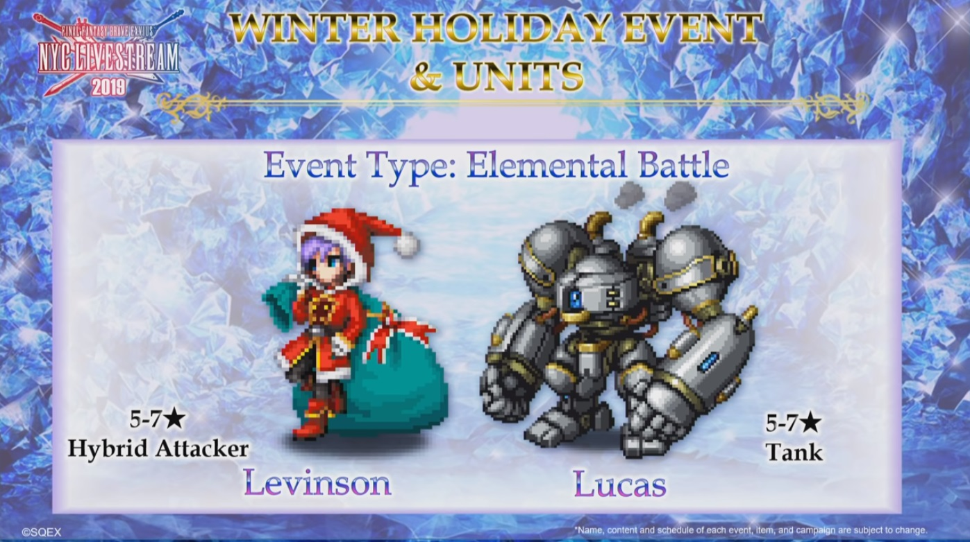 ▲Winter Holiday兵員『Levinson』與『Lucas』