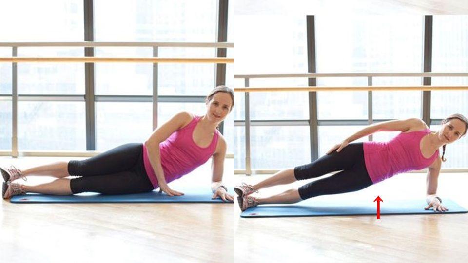 想要練出腹肌韓右側腹線條,其實側棒式抬臀是一個非常有效的運動