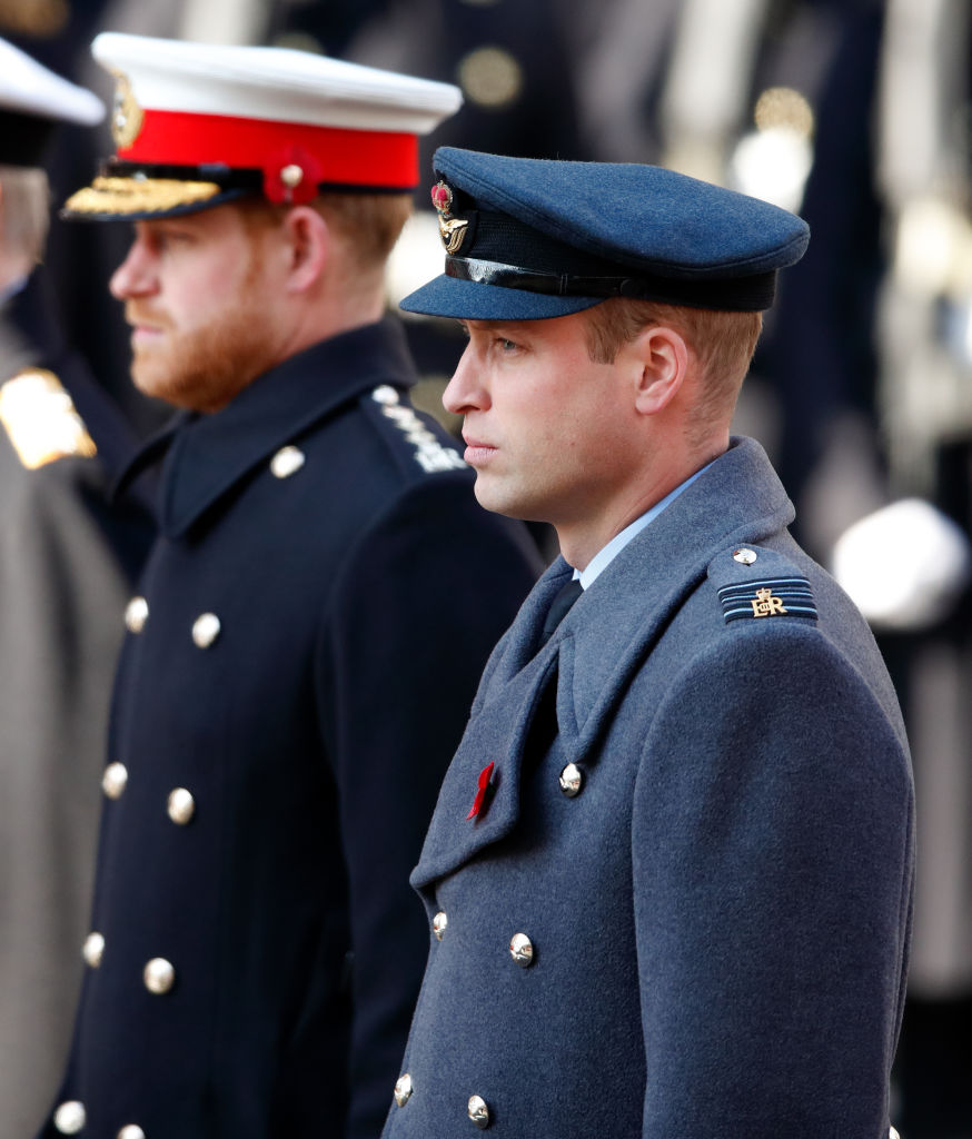 Prince William and Prince Harry were pictured together following hints at a family rift [Photo: Getty]