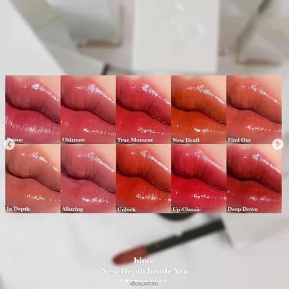 最近韓國KOL、美妝部落客們都瘋狂在曬hince的唇彩