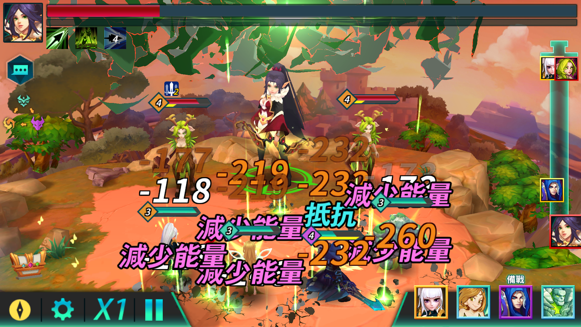 遊戲的戰鬥介面與流程 就是抄襲《魔靈召喚》