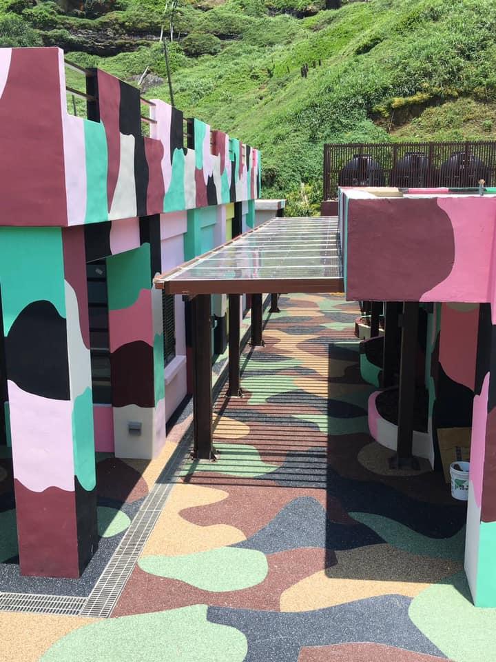 粉彩營區及迷彩透水步道(圖片來源:東北角之友FB)