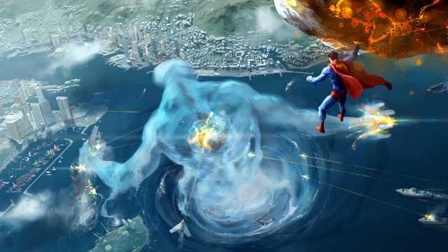 開放世界的大都會,超人撞到大樓會倒下嗎?(圖源:Twitter/Jsig212James)