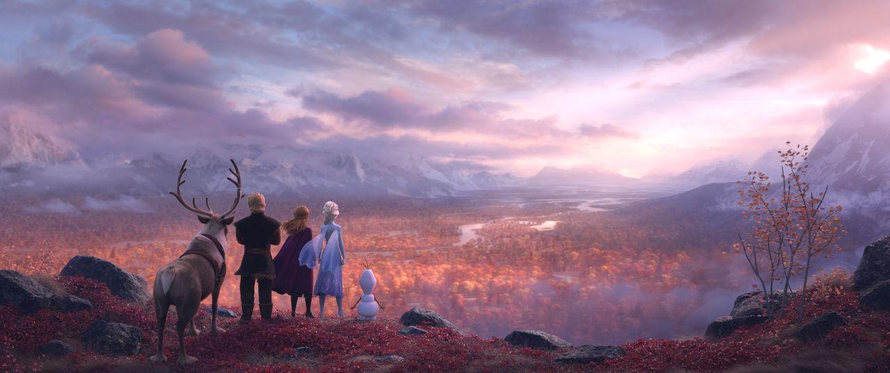 《冰雪奇緣2》加入更多大自然元素,尤其秋天景色更是電影一大亮點。