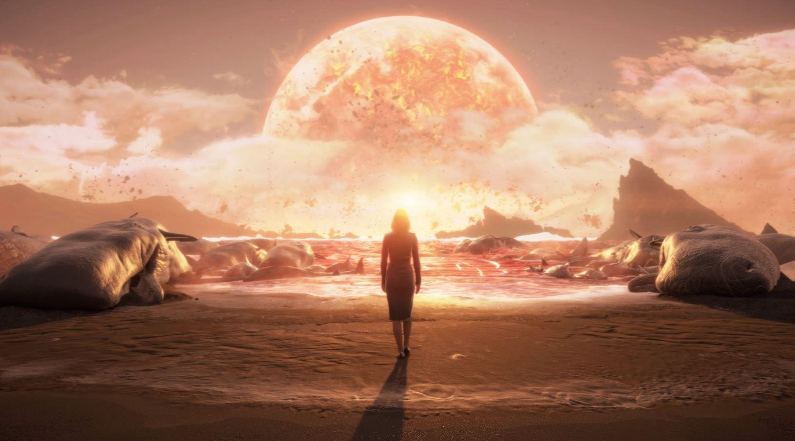 畢竟多年來她承受著地球的末日,會崩潰也能理解。