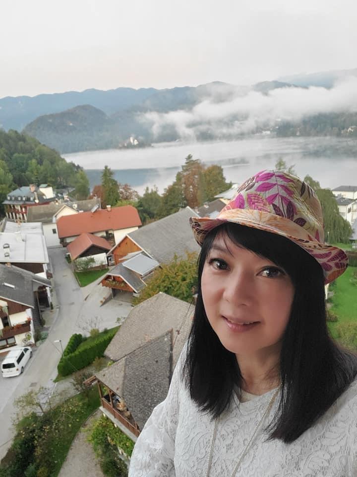 ▲「斯洛維尼雅」的布萊德湖,是知名景點,美麗景色讓谷懷萱念念不忘。