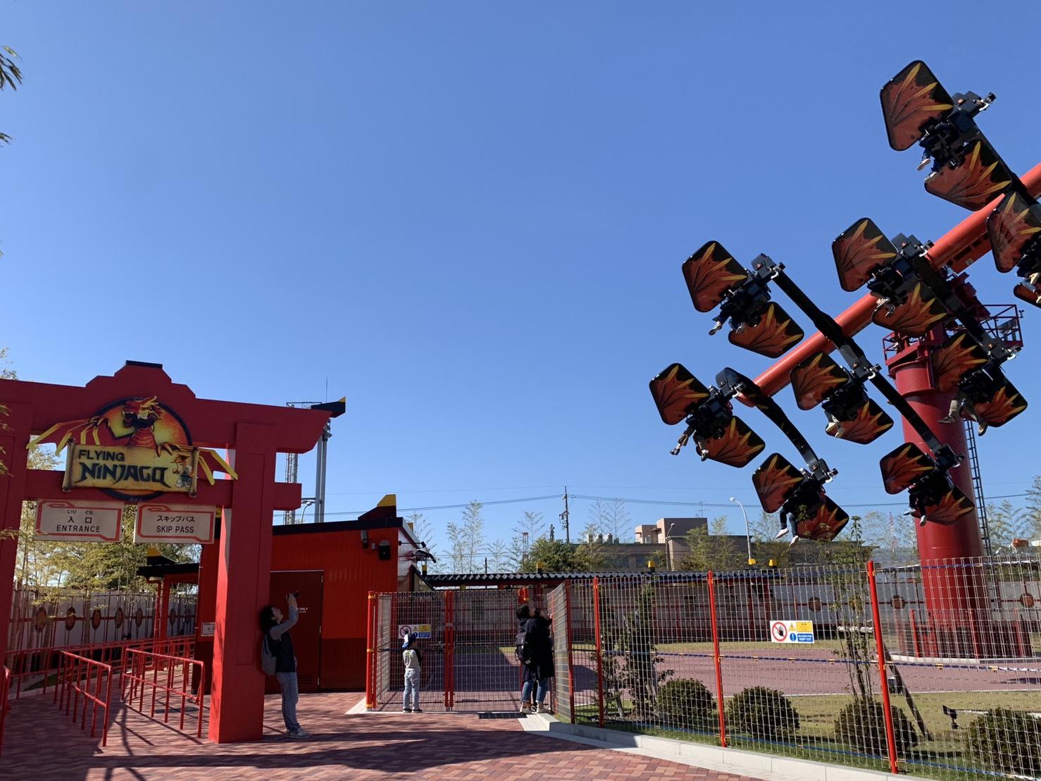 忍者園區最著名的遊樂設施幻影忍者降龍飛天