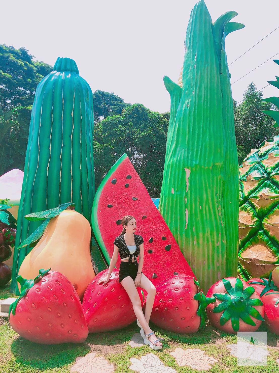 ▲曼谷的夢幻世界樂園,讓陳斯亞有種回到小時候的感覺。