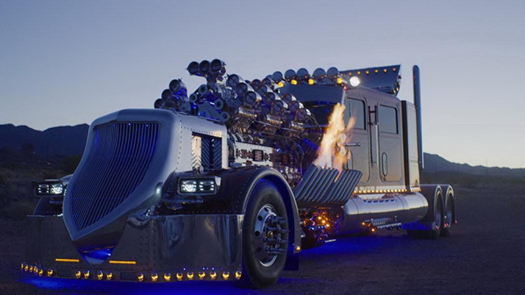 圖/Thor 24拖車頭最大亮點,就是車頭超顯眼的機械結構,且它不光只是好看,實際要開上路也沒問題。