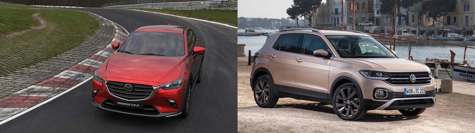 圖/Mazda CX-3 2.0 SKY-G旗艦型與Volkswagen T-Cross 230 TSI Life都會SUV對決。