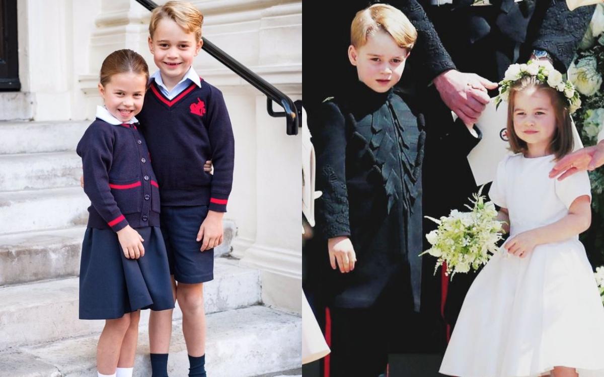 喬治小王子&夏綠蒂公主開始上學了