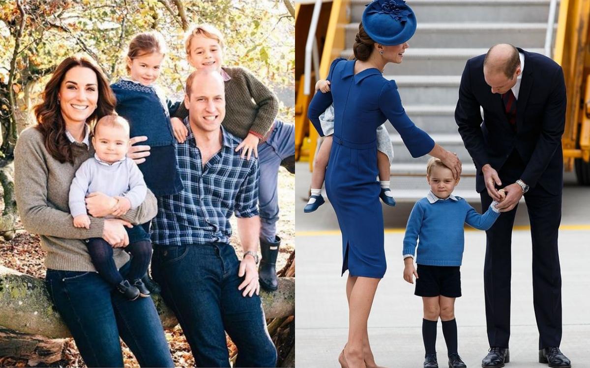 英國皇室PO出新的全家福照,大家都穿著經典的藍色系休閒造型