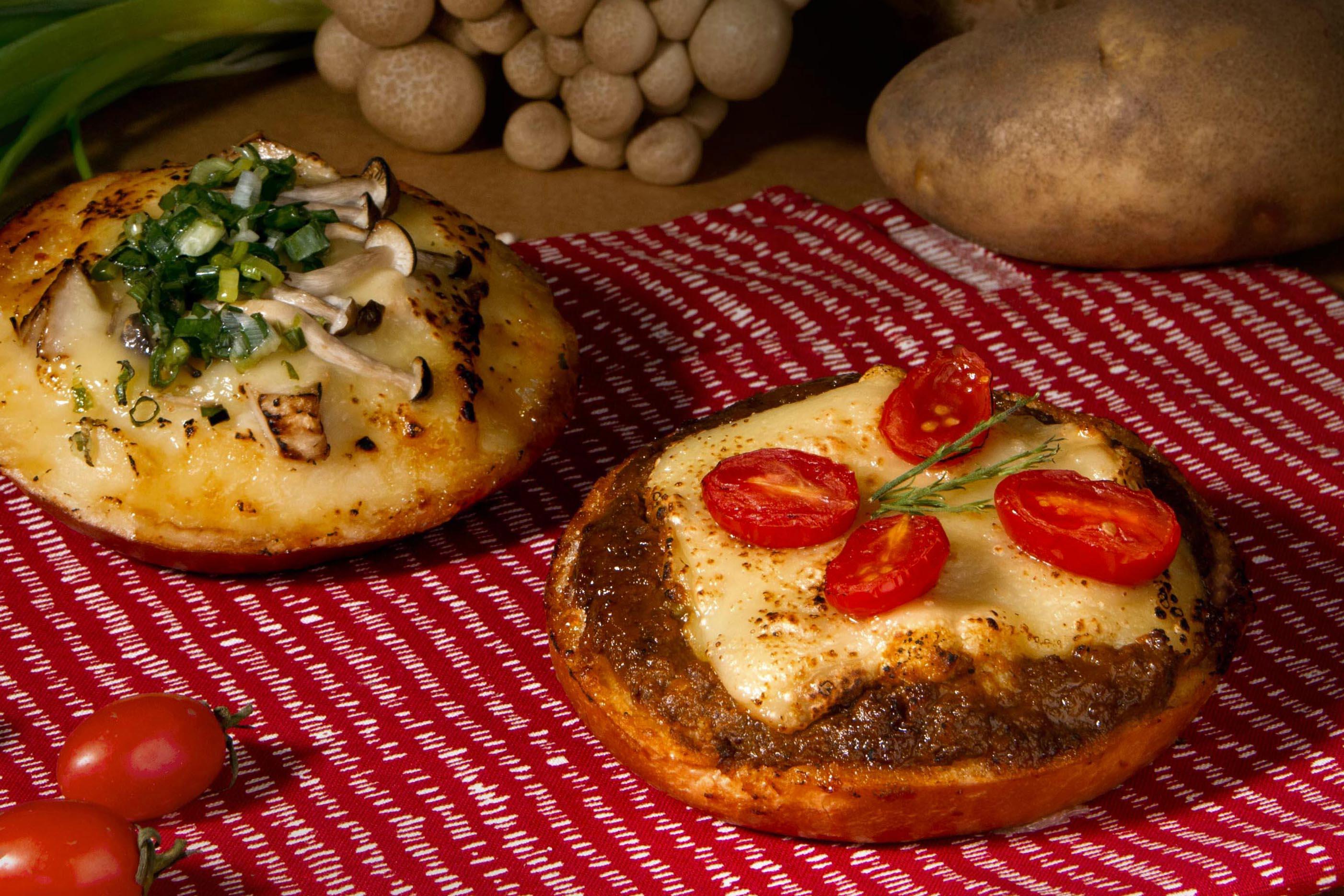 限量現烤,推出兩種口味「香蔥野菇」與「辛香咖哩」