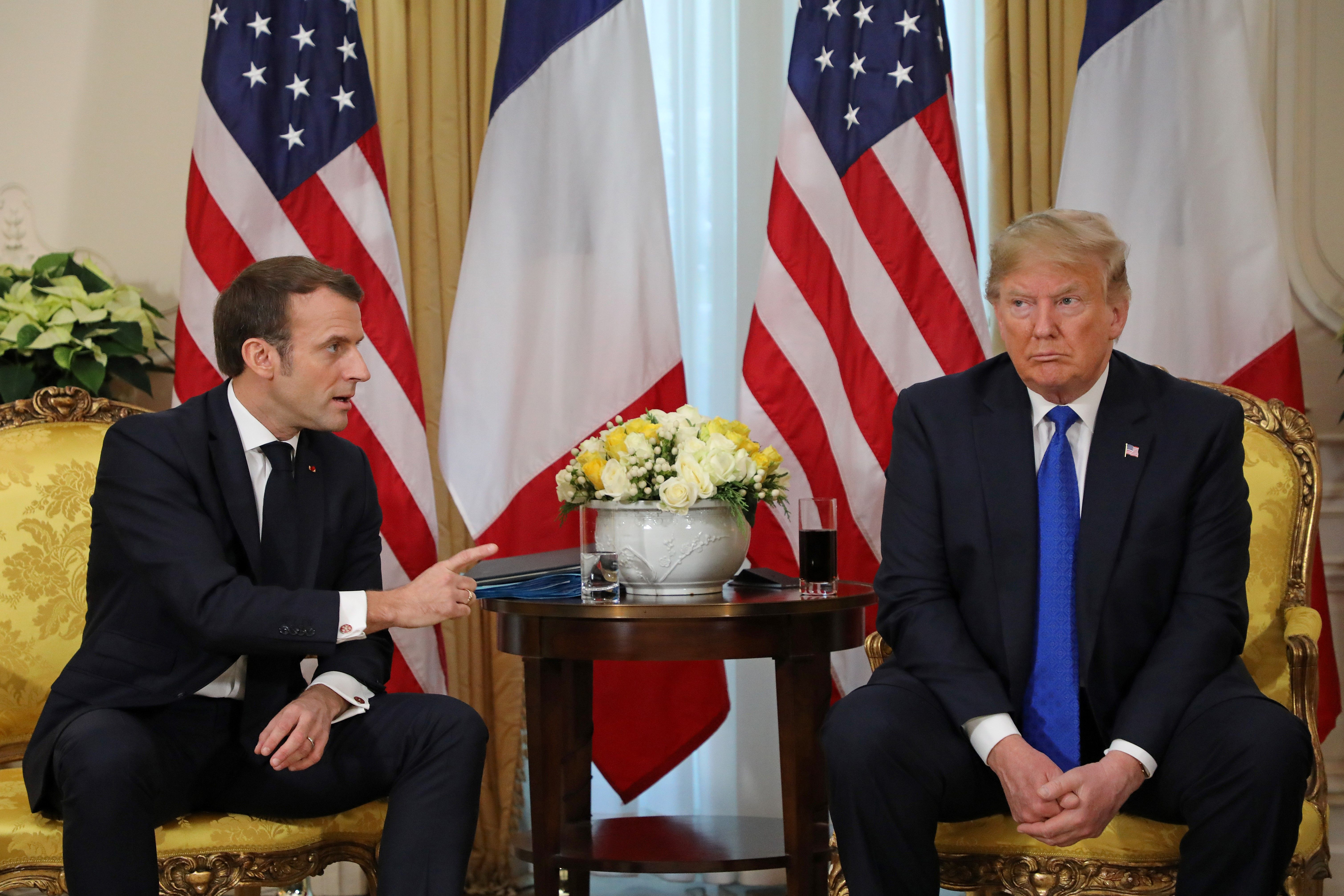 Would you like some nice ISIS fighters? Trump trolls Macron at NATO summit