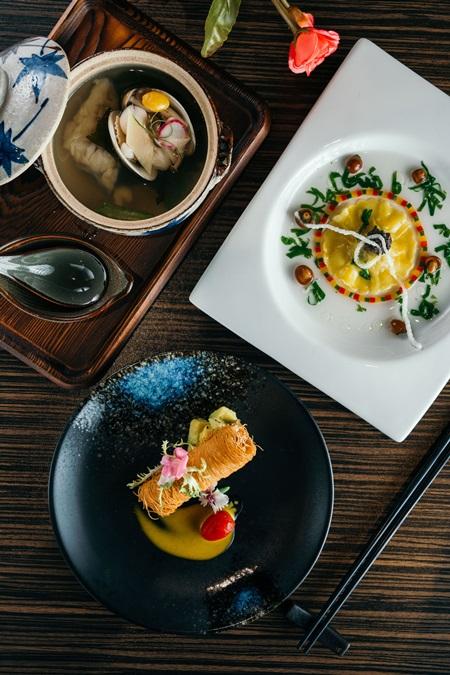 四小姐鱻食套餐有山盟海誓一甲子、隱食第一鮮、柔情養生鮮魚湯。攝影/Ray