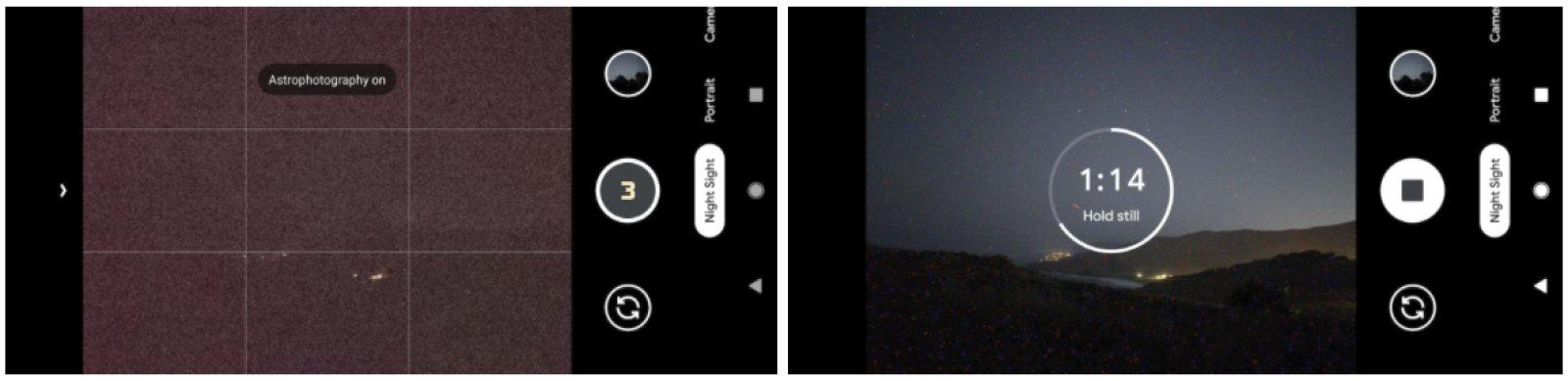 Pixel 4 Astrophotography Mode