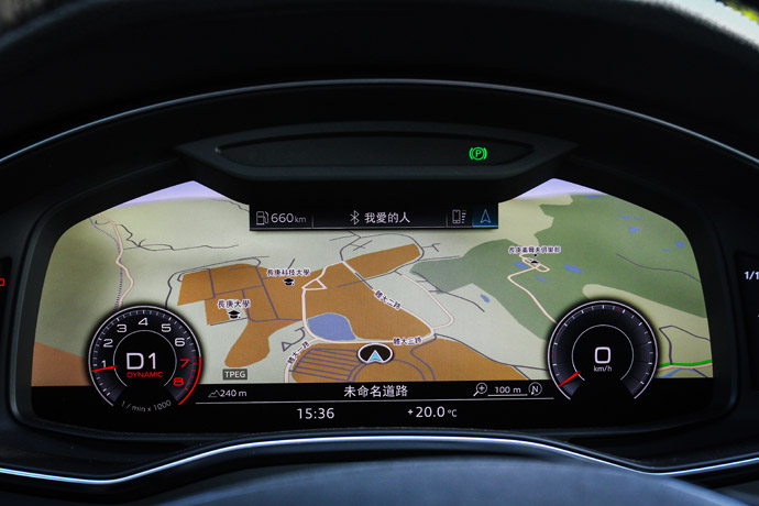 Audi Virtual Cockpit全數位虛擬座艙的儀錶介面,可依照駕駛者需要的資訊,切換、放大不同的介面,在解析度及畫面呈現上,筆者認為是現階段同級車中最優異的。版權所有/汽車視界