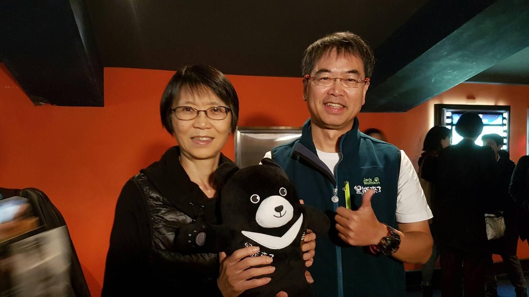 酷酷嫂周美青也蒞臨《黑熊來了》首映會支持