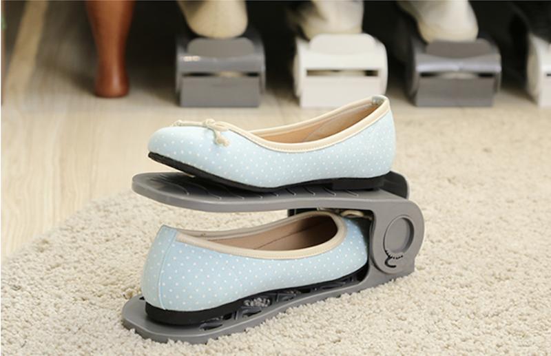 ▲鞋櫃內有收鞋利器,立刻多出一倍的放鞋空間。(圖片來源:Yahoo購物中心)