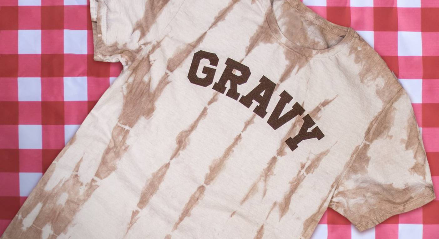 The t-shirt has been soaked in gravy. [Photo: Kentucky for Kentucky]