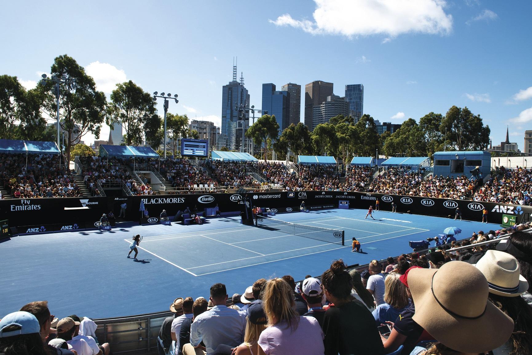 洲網球公開賽(Australian Open)於每年一月舉行,為全球年度重要網球賽事—四大滿貫賽揭開序幕。(圖/維多利亞州旅遊局)