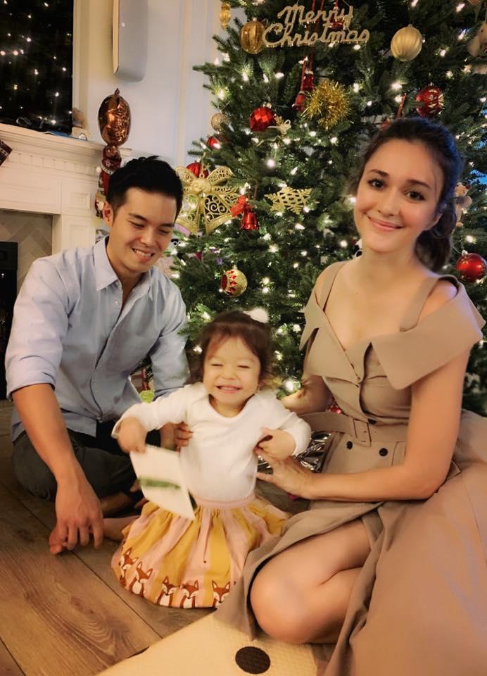 ▲瑞莎表示能和家人一起過聖誕節,就是最幸福的事。