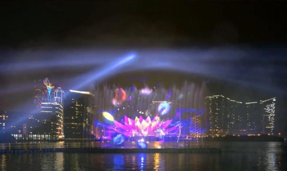 水幕投影驚艷四海(圖片來源:澳門特別行政區政府旅遊局)