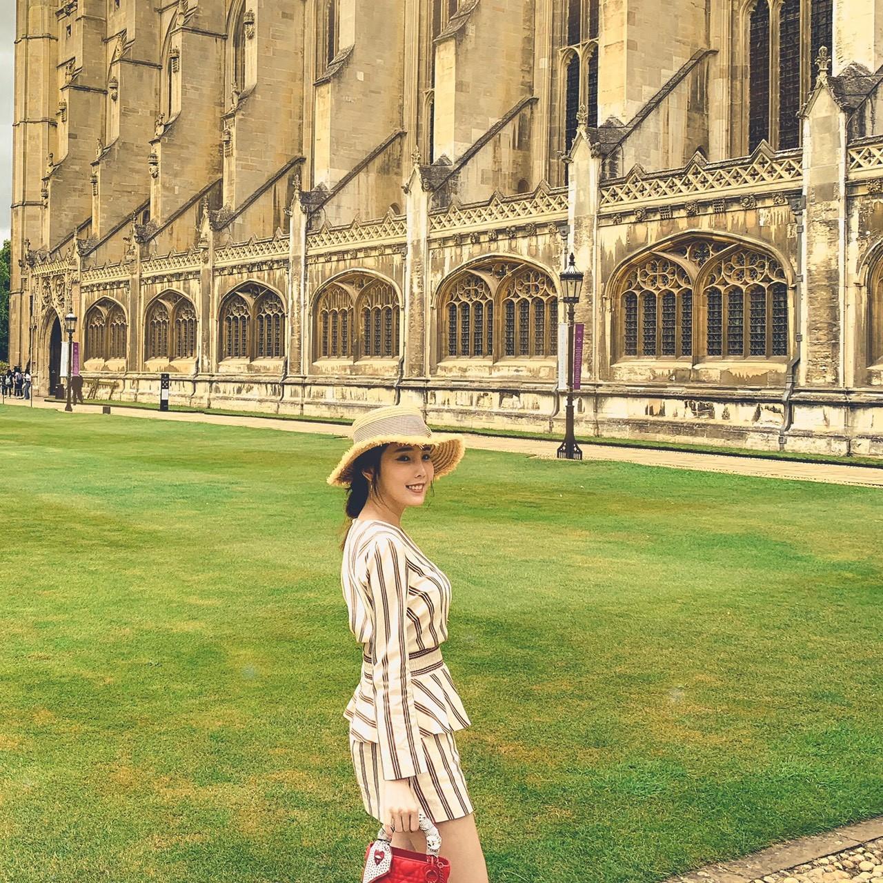 ▲朱琦郁這次去倫敦,帶著男友一同舊地重遊,兩人一起去了許多當紅的景點。